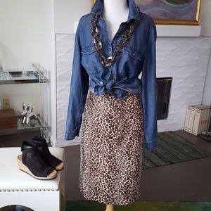 "Exotic Vivienne Tam Animal Print ""Fur"" Skirt 12"